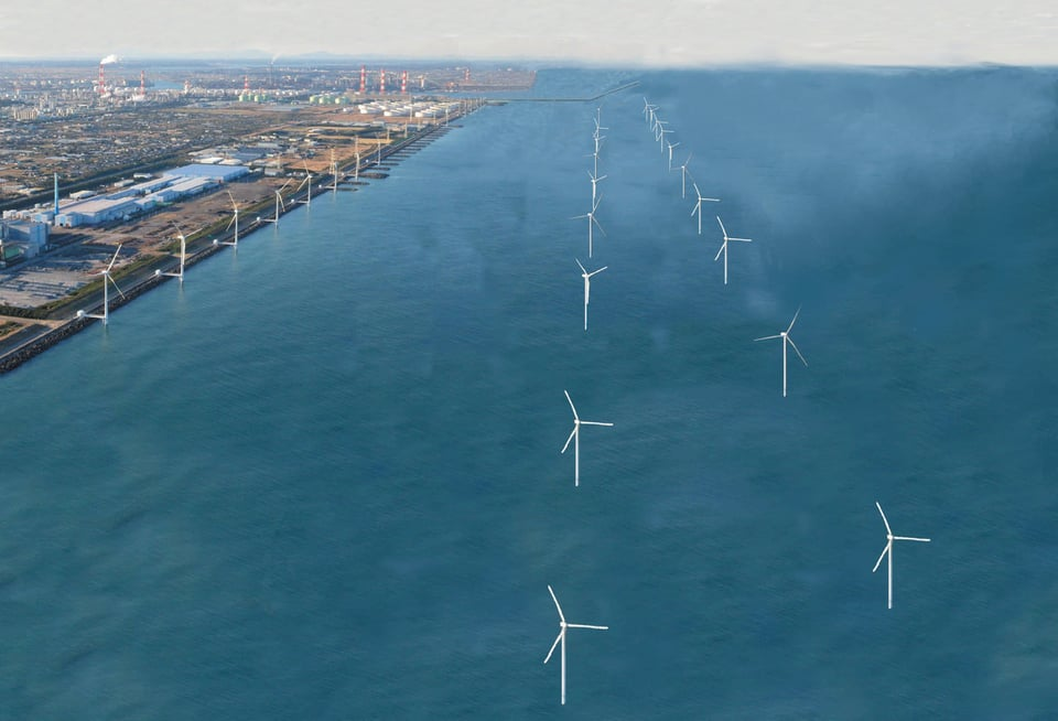 茨城県鹿島港洋上風力発電事業の推進についての概要写真