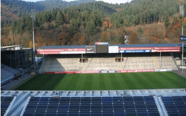 フライブルクスタジアムの風景
