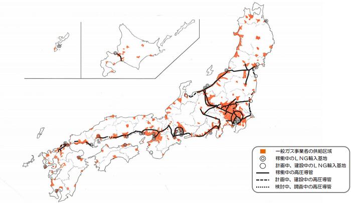 都市ガス導管網の整備状況