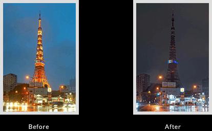 ライトダウンキャンペーン 東京タワーの様子