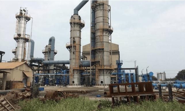 石炭火力発電所の外観