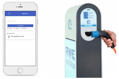 RWE社による充電システムとアプリケーション