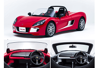 世界初、窓を「ガラス」から「樹脂」で3割軽く、国産EVのスポーツカー量産モデルにの写真