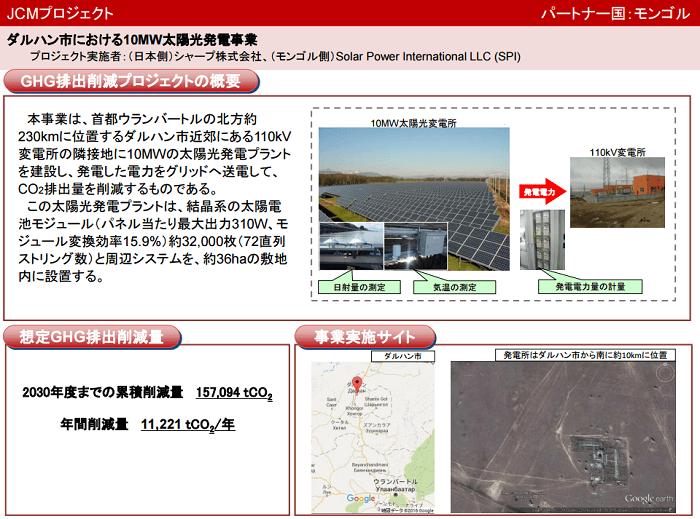 ダルハン市における10MW太陽光発電事業