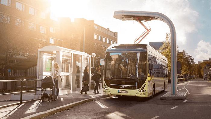 電気バス運行のイメージ