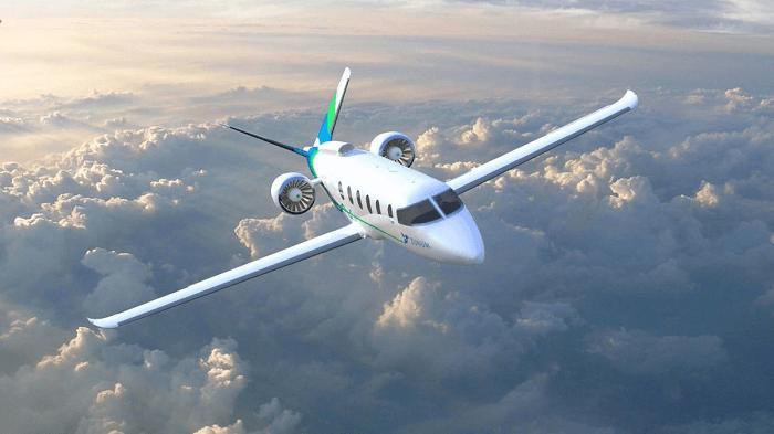 電動飛行機のイメージ