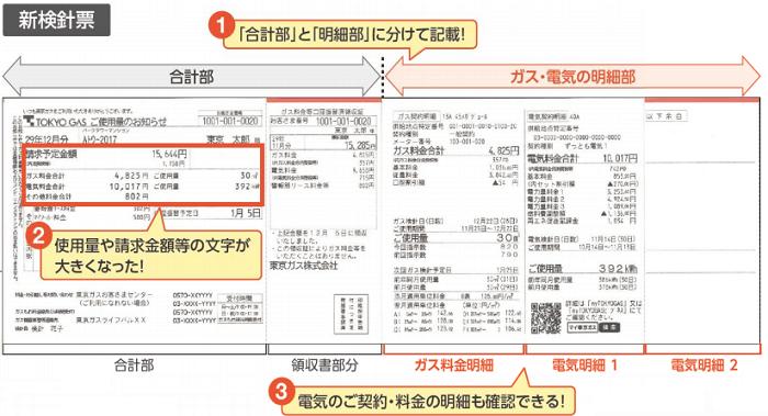 東京ガスの新検針票