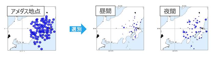 多地点の気象予測情報に基づく重要な地点の機械学習による抽出