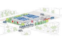 「再エネ+EV+中古の車載用蓄電池」を使った「みらいの工場」プロジェクト始動の写真