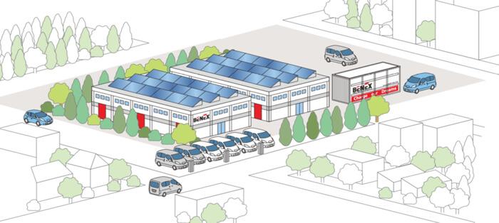 新しい時代のエネルギーリソース(太陽光・EV・リユース蓄電池)を備えた『みらいの工場』