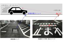 全国初、車両の振動で発電するシステム、駐車場に設置、竹中工務店など開発の写真